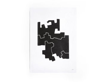 Affiche motif 2 noir et blanc, Bialik AM.PM Noir/Blanc