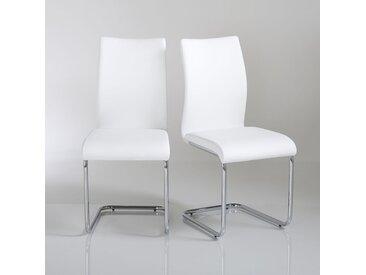 Lot de 2 chaises cantilever, Newark LA REDOUTE INTERIEURS Blanc