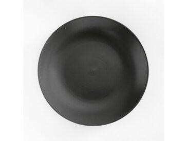 Lot 4 assiettes plates faïence mat, MELYA LA REDOUTE INTERIEURS Anthracite