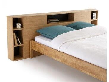 Tête de lit XL avec rangements, BIFACE LA REDOUTE INTERIEURS Bois Clair Chêne