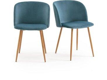 Lot de 2 fauteuils de table Lavergne LA REDOUTE INTERIEURS Bleu Canard