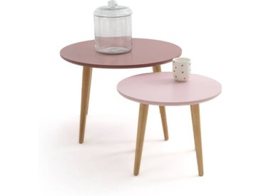 Lot de 2 tables basses gigognes, Jimi LA REDOUTE INTERIEURS Rose