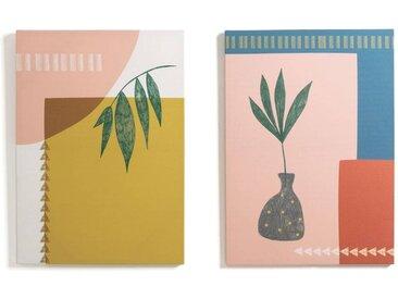 Lot de 2 toiles imprimées, Lodga LA REDOUTE INTERIEURS Multicolore