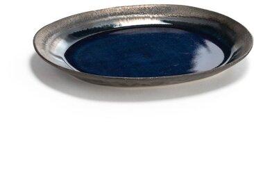 Assiette plate grès émaillé, Airi AM.PM Bleu, Marron