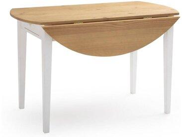 Table à manger 2 tiroirs, 4 à 6 couverts, Alvina LA REDOUTE INTERIEURS Blanc Naturel