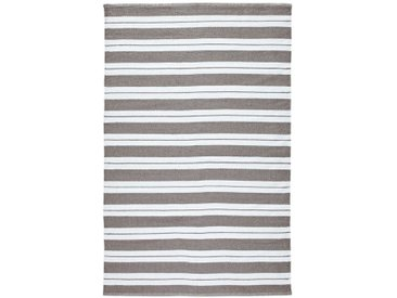 Tapis Linky indoor ou outdoor rayé LA REDOUTE INTERIEURS Gris/Blanc