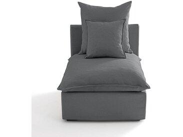 Chauffeuse déhoussable coton/lin, Nélia LA REDOUTE INTERIEURS Gris Moyen