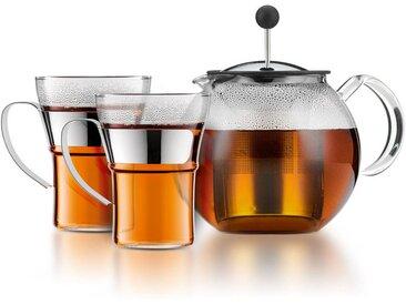 Théière à piston Assam 1 L avec 2 tasses en verreBODUMTransparent