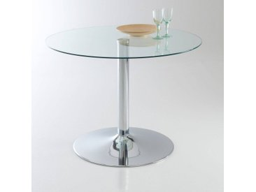 Table à manger verre trempé, 4 couverts, Janik LA REDOUTE INTERIEURS Transparent