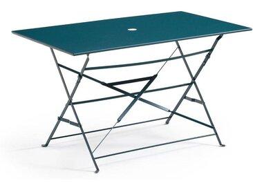 Table pliante rectangulaire, métal OZEVAN LA REDOUTE INTERIEURS Bleu De Prusse