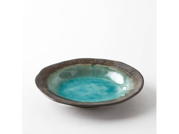 Coupe grès émaillé, Altadill AM.PM Bleu/Turquoise