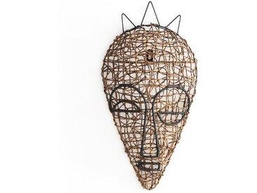 Masque africain rotin tressé mod. 1, Yanaelle AM.PM Brun