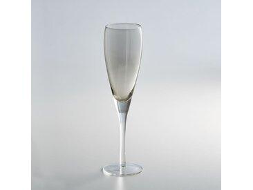 Lot 4 flûtes à champagne, KOUTINE LA REDOUTE INTERIEURS Gris Fumé