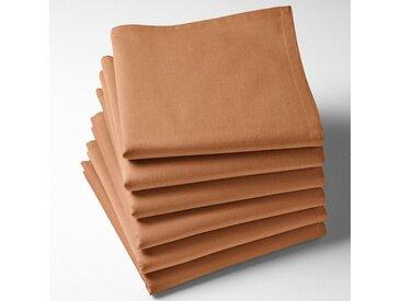 Serviettes de table unies coton, Scenario LA REDOUTE INTERIEURS Caramel