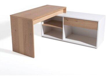 Bureau d'angle modulable, MADDO LA REDOUTE INTERIEURS Chêne/Blanc