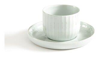 Les 2 tasses & sous-tasses en porcelaine, Ariane AM.PM Blanc