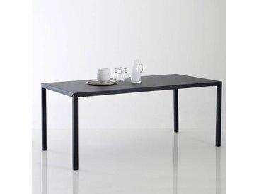 Table à manger métal noir mat 6 couverts, Hiba LA REDOUTE INTERIEURS Noir