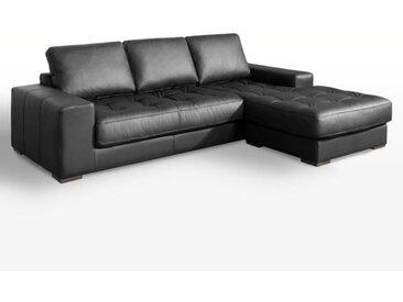 Canapé d'angle fixe confort supérieur, cuir, Arlon LA REDOUTE INTERIEURS Noir