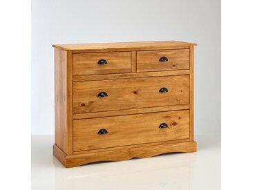 Commode 4 tiroirs Authentic Style LA REDOUTE INTERIEURS Ciré Naturel
