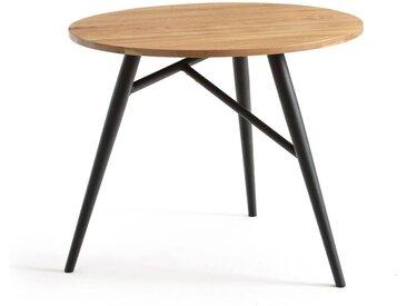 Table à manger ronde chêne, 3 couverts, Cruseo LA REDOUTE INTERIEURS Chêne