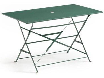 Table pliante rectangulaire, métal OZEVAN LA REDOUTE INTERIEURS Vert Eucalyptus