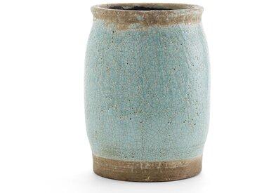 Cache-pot céramique h30 cm, Euphyllia AM.PM Bleu Clair