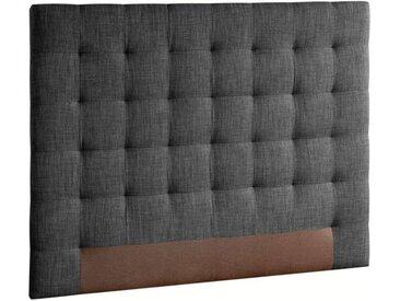 Tête de lit capitonnée Selve, H120 cm AM.PM Gris Anthracite