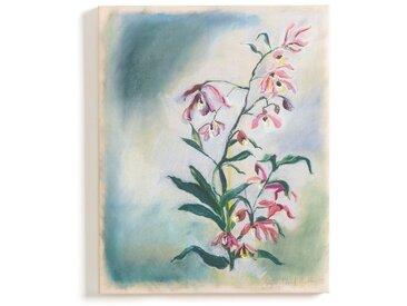 Toile imprimée motif floral effet peinture, Rosa LA REDOUTE INTERIEURS Multicolore