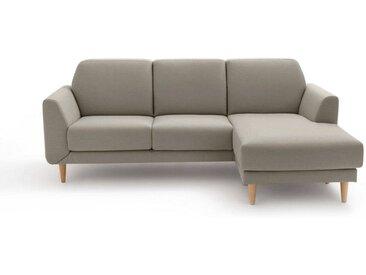 Canapé d'angle fixe polyester, JASPER LA REDOUTE INTERIEURS Gris Clair