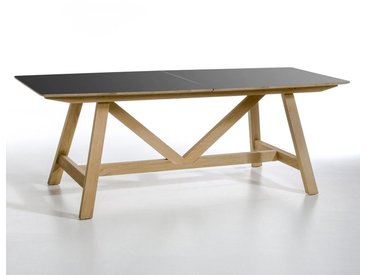 Table extensible, Buondi, design E. Gallina AM.PM Métal Noir/Chêne