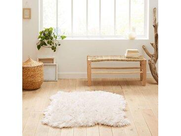Tapis effet peau de mouton, Livio, 110 x 130 cm LA REDOUTE INTERIEURS Blanc
