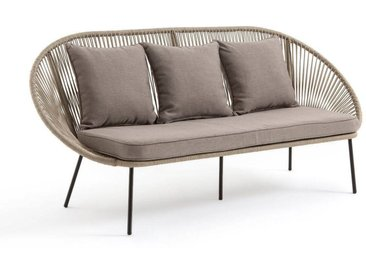 Canapé 3 places de jardin Jiraya LA REDOUTE INTERIEURS Beige