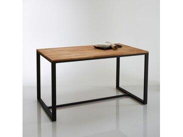 Table à manger 4 couverts, chêne et acier, Hiba LA REDOUTE INTERIEURS Naturel
