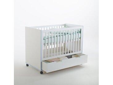 Lit bébé avec tiroir et roulettes, Lisalou LA REDOUTE INTERIEURS Blanc
