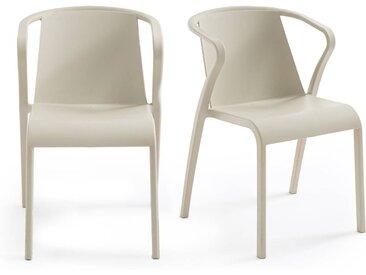 Lot de 2 fauteuils en polypropylène, Predsida LA REDOUTE INTERIEURS Sable