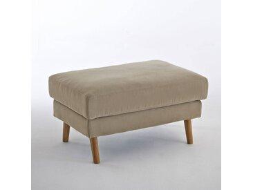 Pouf coton Stockholm, confort Excellence LA REDOUTE INTERIEURS Taupe