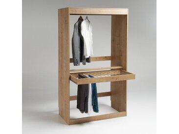 Module dressing, penderie + porte pantalons, Build LA REDOUTE INTERIEURS Bois Chêne Arlington