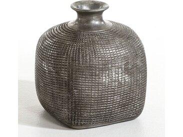 Vase sculpture terre cuite, Kenza AM.PM Noir