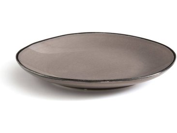 Lot de 4 assiettes dessert faïence Catalpin AM.PM Gris