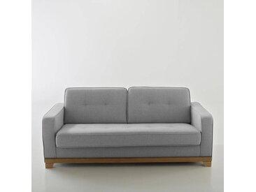 Canapé convertible polyester Bultex, AJIS LA REDOUTE INTERIEURS Gris Clair