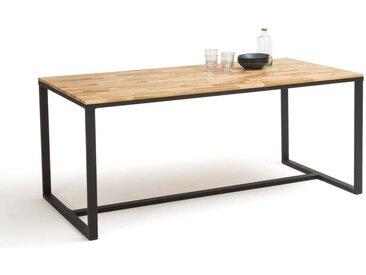 Table à manger 8 couverts chêne et acier, Hiba. LA REDOUTE INTERIEURS Naturel