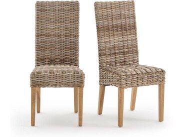 Lot de 2 chaises kubu à dossier haut, Inqaluit LA REDOUTE INTERIEURS Naturel