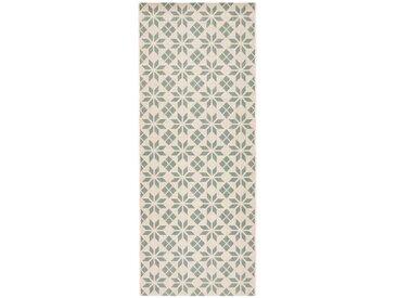 Tapis de couloir carreaux de ciment, Iswik LA REDOUTE INTERIEURS Céladon/Blanc