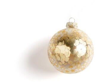 Lot de 3 boules de Noël en verre à sequins Facets AM.PM Doré