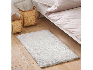 Descente de lit shaggy, aspect laineux, Afaw LA REDOUTE INTERIEURS Blanc