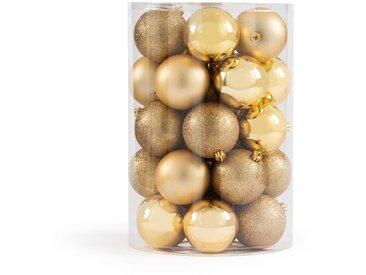 Coffret de 34 boules de Noël doré, Caspar LA REDOUTE INTERIEURS Or