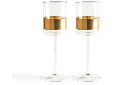 2 verres à vin blanc cuivre Niels Datema Serax AM.PM Doré