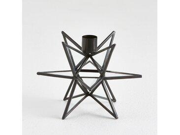 Bougeoir métal et verre, Estello LA REDOUTE INTERIEURS Noir