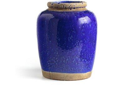 Vase en ciment H30 cm, Anafi AM.PM Bleu