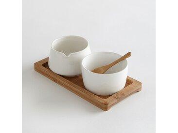 Pot à lait et sucrier en céramique LA REDOUTE INTERIEURS Blanc